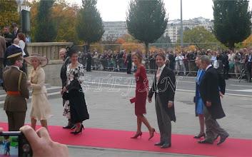 Photo: Archduchess Anna Gabriela of Austria, Archduke Simeon and Archduchess Maria of Austria, Archduchess Catharina of Austria and husband Count Massimilian Secco d'Aragona, Archduchess Maria Anna of Austria and husband Prince Pjotr Galitzine