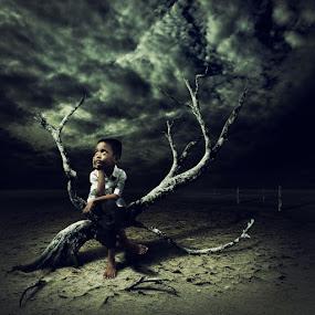 Alone in The Dark by Ahay Gart - Digital Art People