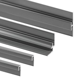Decodesign Profilset: Endprofile, Eckverbinder, Flächenverbinder