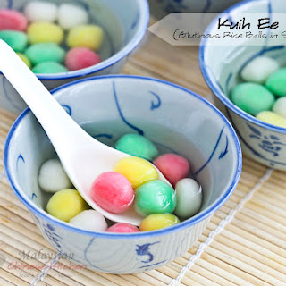 Kuih Ee (Glutinous Rice Balls in Syrup).
