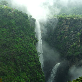 Jog Falls  by Praveen Vaidya - Landscapes Mountains & Hills ( beautiful, waterfalls, nature, india, landscape, photography )