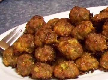 Spicy Sausage balls with Water Chestnuts