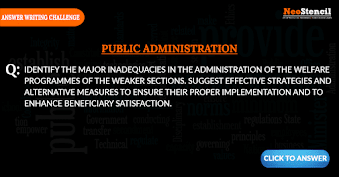 Public Administration Answer Writing Challenge - Question Set 3