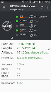 GPS Satellites Viewer- screenshot thumbnail
