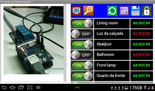 Arduino camera ip wifi control apps para android no