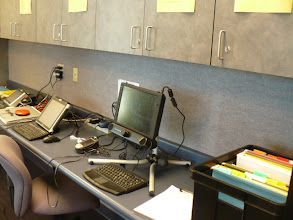Photo: Augmentative and Alternative Communication lab for on site clinical training.