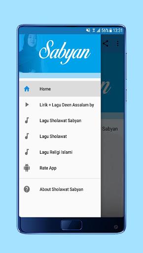 Sholawat Deen Assalam Nissa Sabyan + Lirik 1.0 screenshots 1