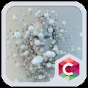 White Robot HD Theme CLauncher icon