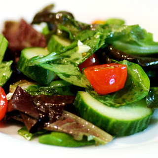 Mixed Salad with Ginger Lime Cilantro Dressing.