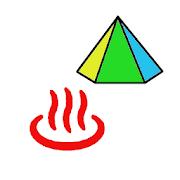 キャンプと温泉地図