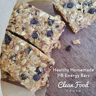 Healthy Homemade PB Energy Bars.