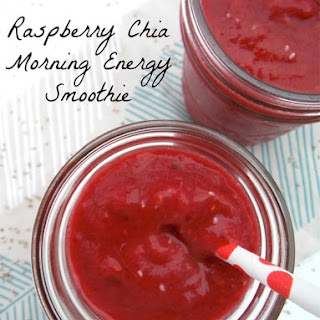 Raspberry Chia Morning Energy Smoothies