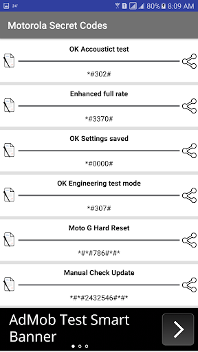 Motorola Secret Codes 1.4 screenshots 2