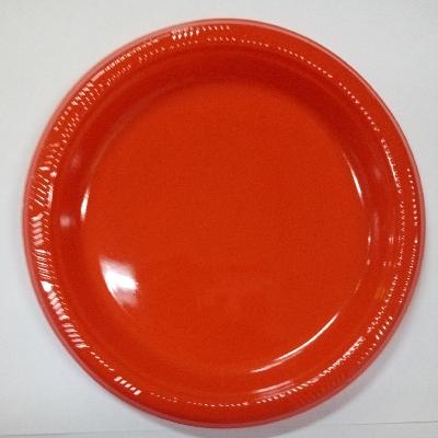 Platos Plasticos Disipal Rojo 18Cm 10Und