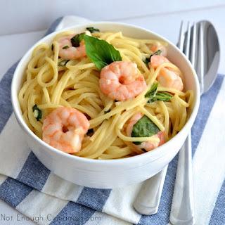 Basil Shrimp Creamy Pasta