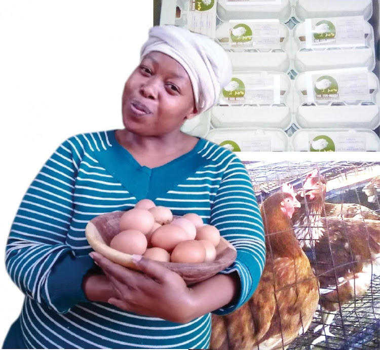 Malesiba Mabitsela supplies eggs to local shops in her area.
