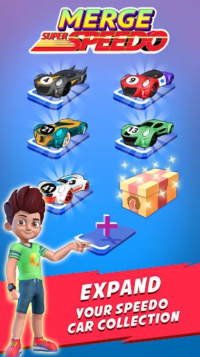 Merge Super Speedo - Kicko Car Tycoon apktram screenshots 4