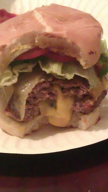 Juicy Lucy Hamburgers