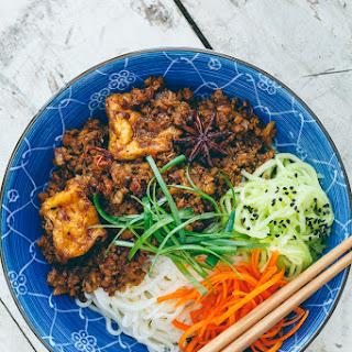 Vegan Rou Zhao (Taiwanese Braised Meatless Sauce).