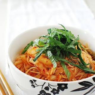 Kimchi Bibim Guksu (Spicy Cold Noodles with Kimchi)