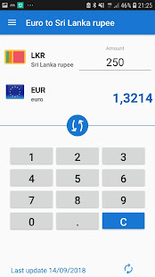 Download Euro to Sri Lanka rupee / EUR to LKR Converter For PC Windows and Mac apk screenshot 2
