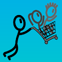 Shopping cart hero icon