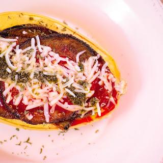 Spaghetti Squash Eggplant Parmesan