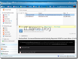 Windows Live Mail - main screen