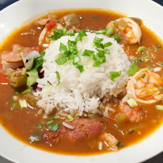Turkey Sausage and Shrimp Gumbo