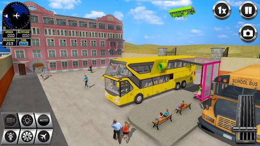 Flying Bus Driving simulator 2019: Free Bus Games screenshots apkshin 17