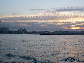 Photo: Sunrise over Grau du Roi....look at those lovely clouds
