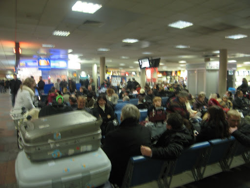 Kiev Airport is worse than anywhere else