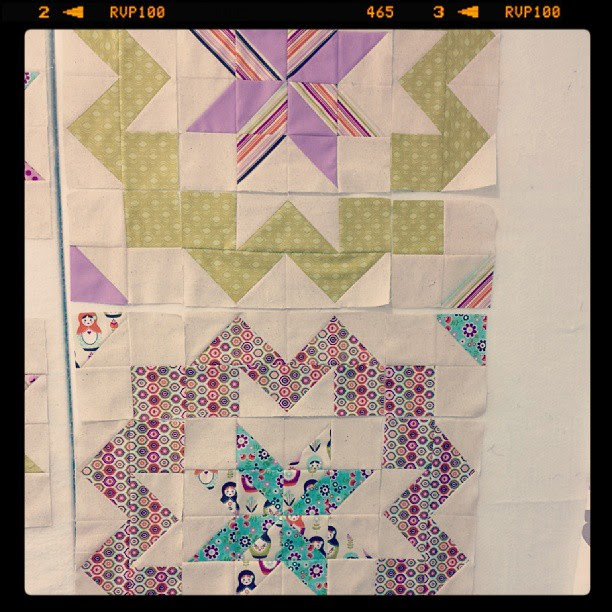 #starsurroundqal.  The surround outside is this weeks assignment.  Soooo  loving these.  3 of 9 done