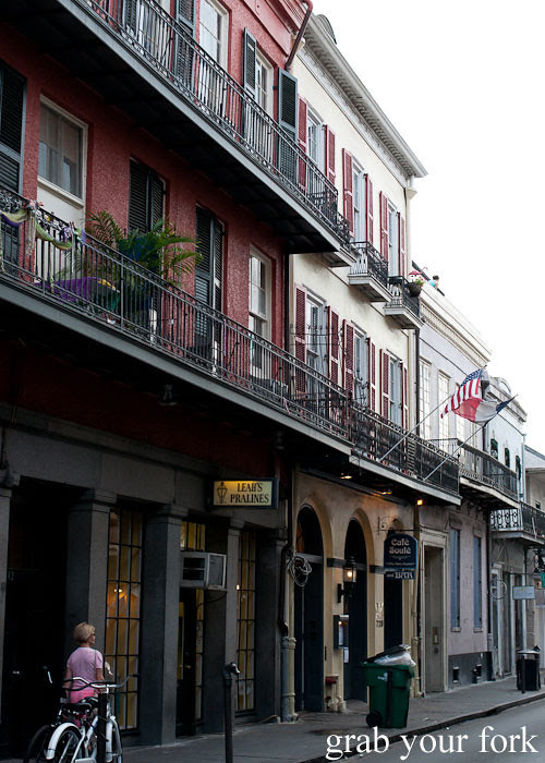 creole townhouse balconies in new orleans louisiana