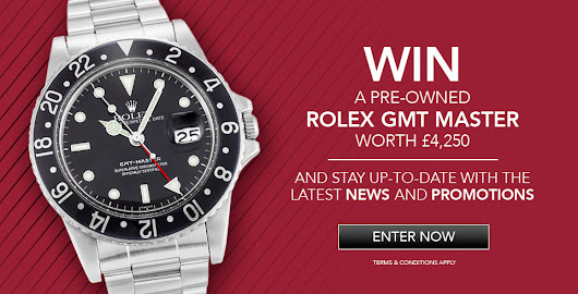 Enter now to win a Rolex GMT Master worth £4,250
