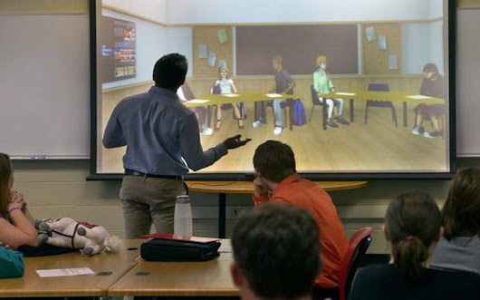 Virtual students give lessons in classroom management to prospective teachers