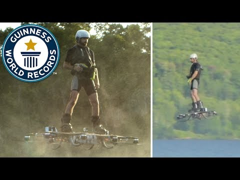 New world record set for farthest hoverboard flight.