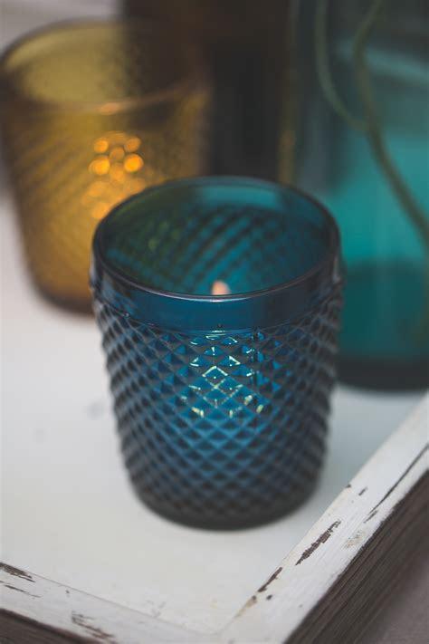 Richland Diamond Candle Holder Navy Blue Set of 6