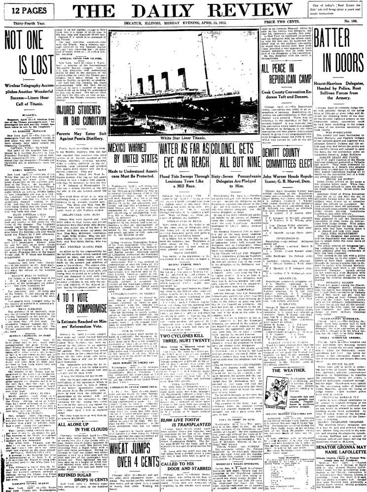 titanic journaux presse newspaper couverture fail 03 Le 15 Avril 1912 la presse annonce la catastrophe du Titanic  histoire featured