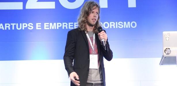 Joshua Slayton, cofundador da Angel List, durante palestra na Case 2014, em São Paulo