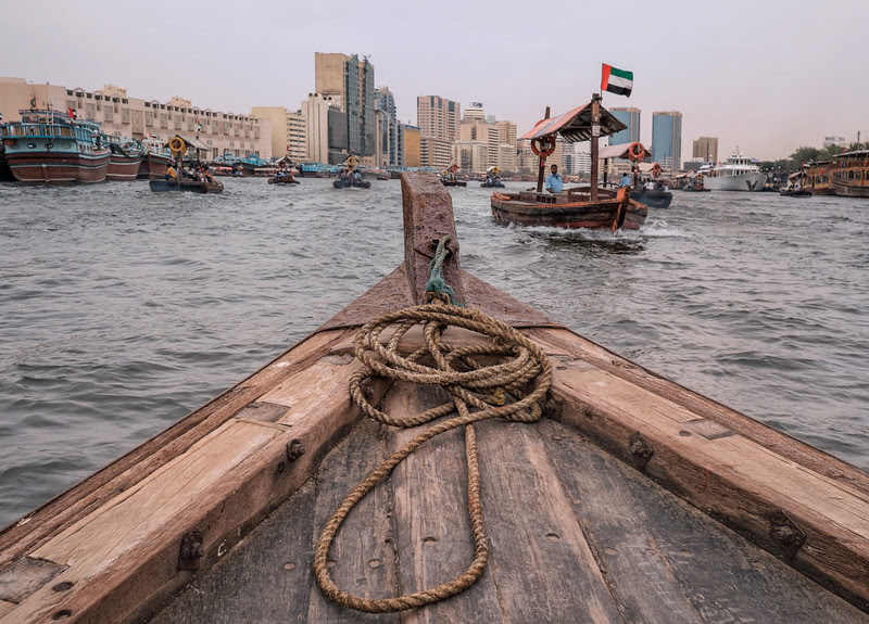Dubai Creek crossing by Abra