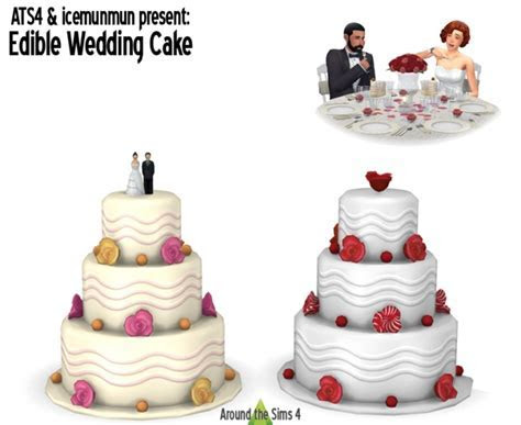 Edible Wedding Cake at Around the Sims 4 » Sims 4 Updates