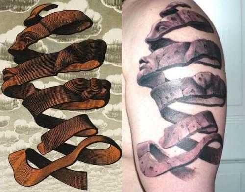 Escher - Círculos e Espirais no Espaço- Rind
