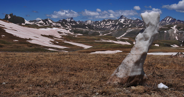 Ice Sculpture atop Engineer Pass