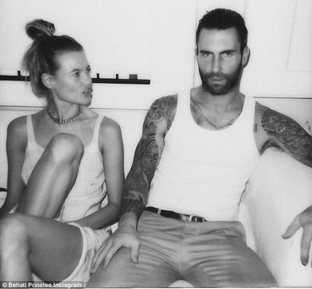 Bridal showered with praise:Behati Prinsloo celebrated three years of marriagte to Adam Levine by referring to him as her 'ride or die' on social media on Wednesday