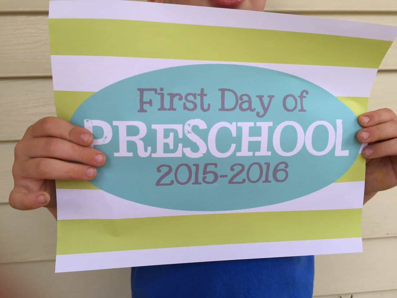 First Day of School Signs {Free Printables!}
