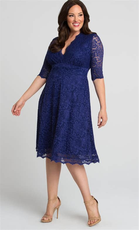 Mademoiselle Lace Dress   Plus Size A Line Midi Dress