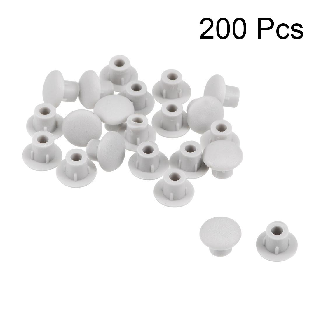 uxcell 50/100/200Pcs Screw Cap Cover 5mm Dia. Plastic ...
