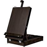 Kingart Espresso - Wooden Art Box Tabletop Easel
