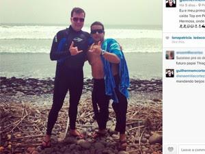 Juiz aparece em foto ao lado do primo Thiago Cortez em praia do Peru (Foto: Reprodução/Instagram)